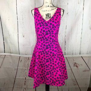 Lily Pulitzer 4 Pink Mambo Amuse Leopard Dress